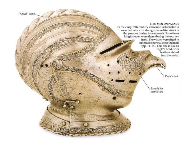 «Птичий» парадный шлем 16-го века.