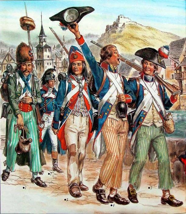 Революционная Франция вела сразу несколько войн.